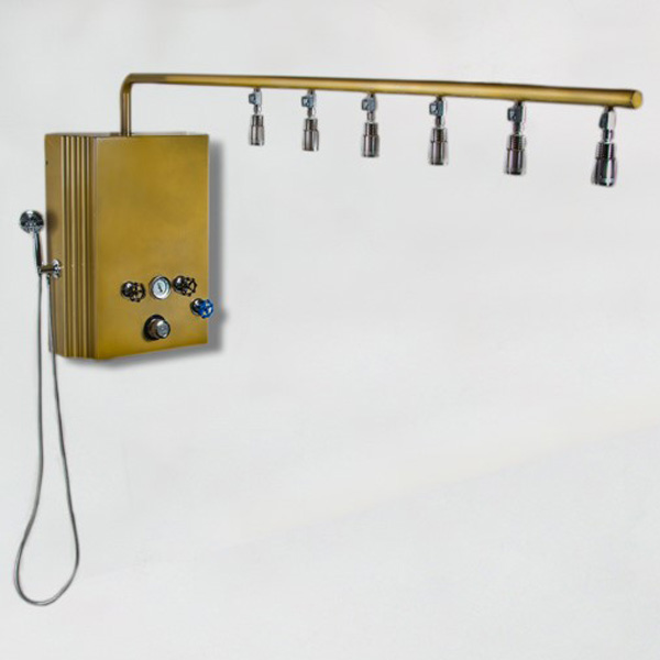 Brass Monkey Vichy Shower with Cold Plunge